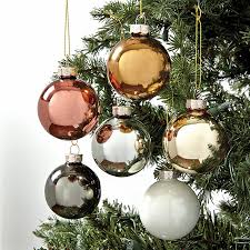 mixed metals glass ornaments set of 12 ballard designs