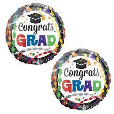 congrats grad 17 foil graduation balloons 2 pack