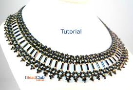 beaded collar necklace jewelry images Bugle bead collar pattern seed bead necklace pattern jpg