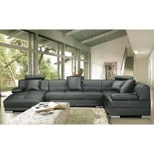 canapé d angle cuir gris anthracite canapé d angle en cuir 8 places napoli gris foncé angle droit