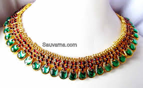 antique emerald necklace images Antique ruby emerald necklace sauvarna indian jewelery jpg