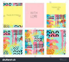 collection happy birthday love thank you stock vector 441424240
