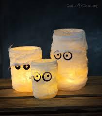 make mummy halloween luminaries mod podge rocks