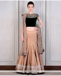 velvet blouse de astonished and bottle green lehenga with velvet blouse