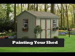 paint your shed project painting a storage shed nfl colors youtube