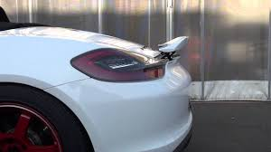 Porsche Boxster X73 - porsche boxster 981 rear wing rennwagen youtube