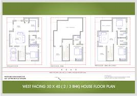 plan for 30 x 40 house plans 3040 floor bangalore west face 2 or 3