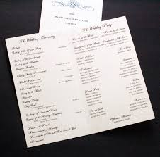 formal wedding program wording wedding program information