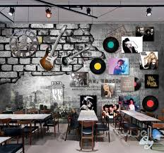 movie star wall murals idecoroom 3d guitar record poster wall paper music art decals mural print decor idcwp mx
