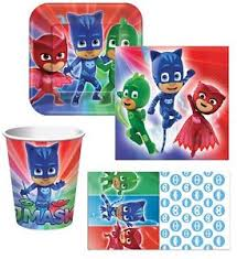 pj masks birthday party express pack 8 guests cups napkins