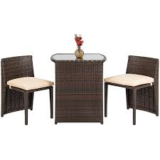 Glass Table Patio Set Amazon Com Best Choice Products Outdoor Patio Furniture Wicker