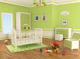 chambre enfant verte chambre enfant chambre bébé fille murs vert anis motifs blancs