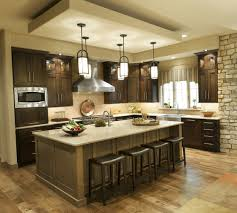 kitchen island decorating ideas floor ceiling windows red