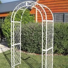 white trellis arch u2013 outdoor decorations