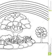 garden coloring page stock illustration image 86352797
