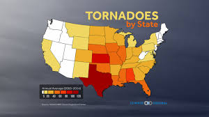 Tornado Map Tornadoes By State Climate Central