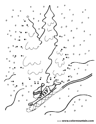 winter dot activity coloring sheet create a printout or activity