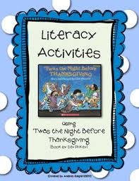 literacy activities for twas the before thanksgiving by