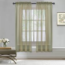 Crushed Sheer Voile Curtains by Sheer Curtain Panels U2013 Ease Bedding With Style