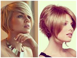 long inverted bob side view bangs medium hair styles ideas 38407