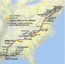 us map atlanta to new york the central of railway seaboard air line railroad