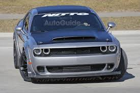 widebody demon did spy photographers catch the dodge challenger srt demon fully