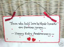 40th wedding anniversary gift ruby 40th wedding anniversary gift present sign plaque ebay