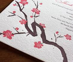 Cherry Blossom Wedding Invitations Cherry Blossom Wedding Invitations Letterpress Wedding