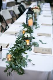 ashly evan november 2015 greenery garland head tables and