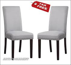 Upholstered Dining Chair Set Dhi Nail Upholstered Dining Chair Set Of 2 Colors Ebay