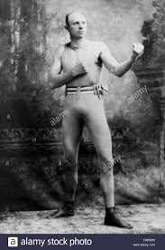 solar plexus punch boxing vintage portrait photo of boxer bob fitzsimmons 1863 1917