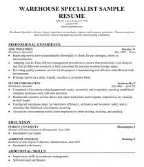 Resume Samples For Warehouse Warehouse Manager Job Description Ups Resume Warehouse Manager