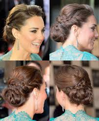 kate middleton updo with braid at olympic concert hair