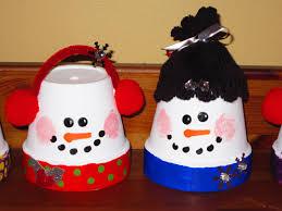 classroom diy diy flower pot snowmen