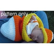 Crochet Baby Halloween Costume Candy Corn Photo Prop Pdf Crochet Pattern English