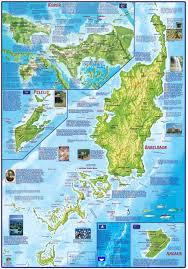 Ups Shipping Map Palau Adventure U0026 Dive Guide Franko Maps Waterproof Map Franko