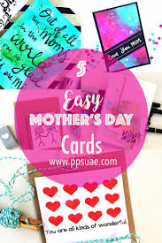 easy mother u0027s day card ideas video tutorial
