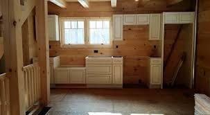 Log Home Kitchen Cabinets - under construction log home kitchen part 2