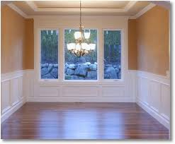 Pictures Of Wainscoting In Dining Rooms Chair Rails And Wainscoting