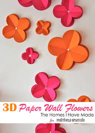 3d paper wall flowers positively splendid crafts sewing