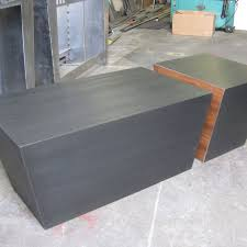 Coffee Table Cube Handmade Steel And Walnut Cube Coffee Table By Bill More Design