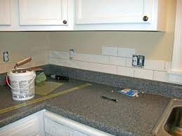 how to install a backsplash in a kitchen easy to install backsplash kitchen with brick easy install to