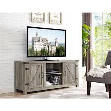 gray rustic tv stands living room furniture the home depot