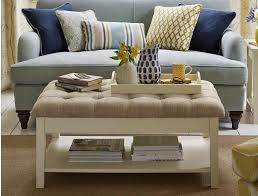 Cushioned Ottoman Cushioned Coffee Table Unique With Stylish Upholstered Coffee