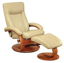 Swedish Leather Recliner Chairs Ergonomic Leather Recliner And Ottoman Set By Mac Motion Chairs