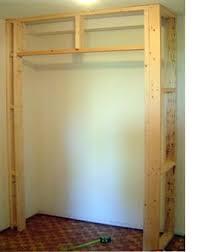 how to build a closet closet wall walls and basements