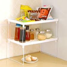 kitchenshelves com 1pcs white multi purpose kitchen shelves 1 layer pantry pan pot
