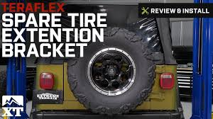 jeep wrangler 1997 2017 tj u0026 jk teraflex spare tire extension