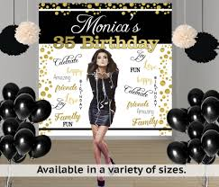 personalized photo backdrop birthday words party personalized photo backdrop milestone photo