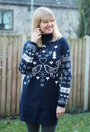 a roll neck fairisle jumper dress with chelsea boots what lizzy